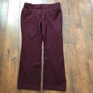 ANNE KLEIN burgundy pants, size 18W
